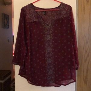 Maurice's size 0 blouse